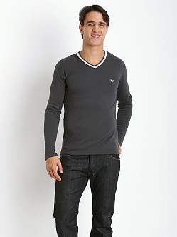 Emporio Armani Soft Lounge Sweater Charcoal