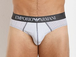 Emporio Armani Printed Fantasy Stretch Cotton Brief White