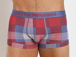 Emporio Armani Printed Fantasy Stretch Cotton Trunk Indigo