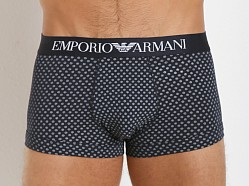 Emporio Armani Printed Fantasy Stretch Cotton Trunk Marine