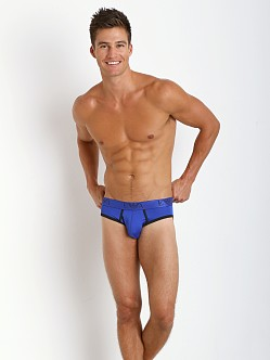 Emporio Armani Contrast Microfiber Brief Royal Blue