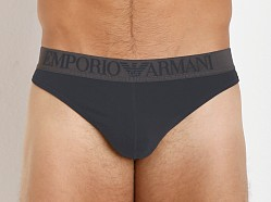 Emporio Armani Colored Stretch Cotton Thong Marine