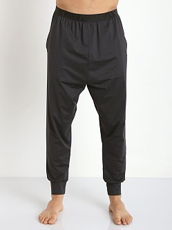 Emporio Armani Fashion Yarn Dyed Pants Black