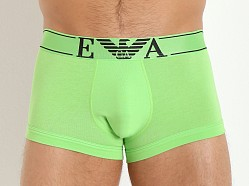 Emporio Armani Pop Logo Stretch Cotton Trunk Green Fluo