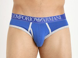 Emporio Armani Contrast Stretch Cotton Brief Royal Blue