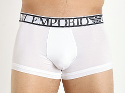 Emporio Armani Pima Stretch Cotton Trunk White