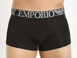 Emporio Armani Pima Stretch Cotton Trunk Black
