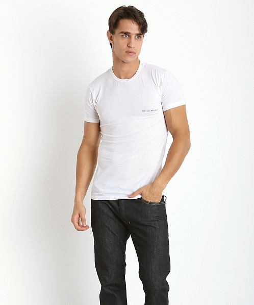 Emporio Armani Pima Stretch Cotton Shirt White