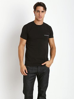 Emporio Armani Pima Stretch Cotton Shirt Black