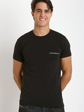Complete the look: Emporio Armani Pima Stretch Cotton Shirt Black