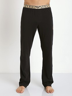 Emporio Armani X Mas Stretch Cotton Pants Black