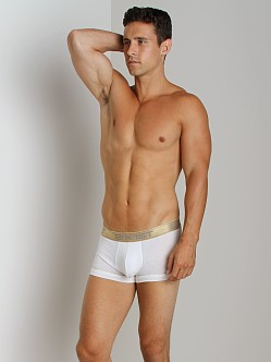 2xist Gold No-Show Trunk White