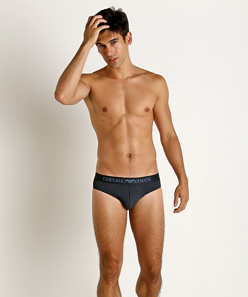 Emporio Armani Pattern Mix Brief Decor Stripe Marine