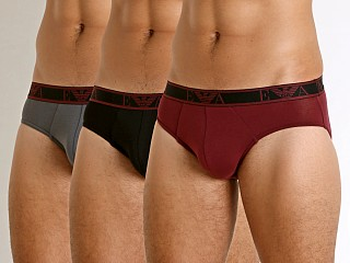 You may also like: Emporio Armani Monogram 3-Pack Brief Black/Anthracite/Amaranth