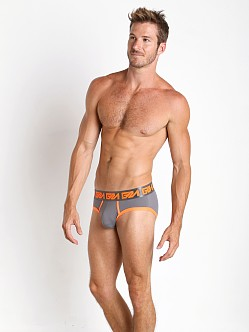 Garcon Model Dodge Briefs Grey/Orange