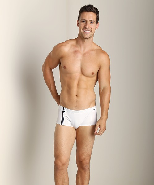 Modus Vivendi Zipper Swim Trunk White