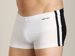 Modus Vivendi Varsity Swim Trunk Black/White