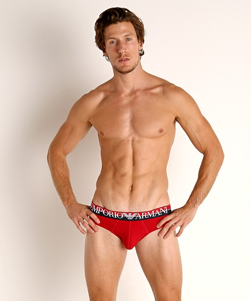 Emporio Armani Double Eagle Brief Cherry