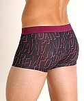 Emporio Armani All Over Logo Trunk Marine Print EA, view 4