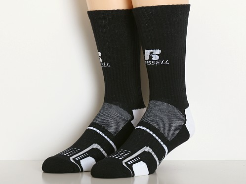 Russell Athletic Performance Crew Socks 3-Pack Black/White