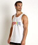 Diesel Rainbow Locoarm Tank Top Bright White, view 3