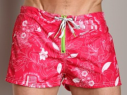 Diesel Shell Print Swim Shorts Pink