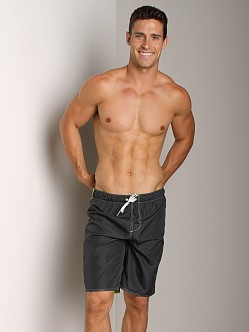 Diesel Reversible Spardouble Long Swim Boxer Slate Grey