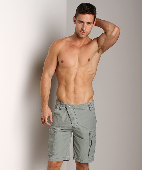 Diesel Louis Long Swim Boxer Olive