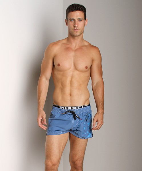 Diesel Barrely Mohawk Swim Shorts Royal Blue