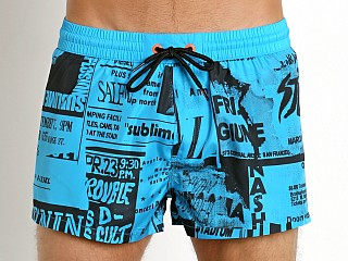 Diesel City Print Sandy Swim Shorts Bright Blue