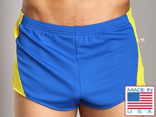 American Jock Track Short Royal/Gold