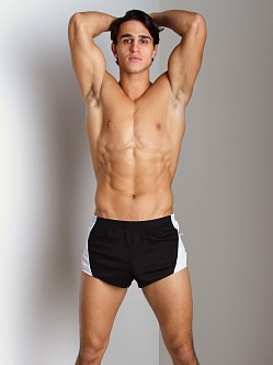 American Jock Track Short Black/White