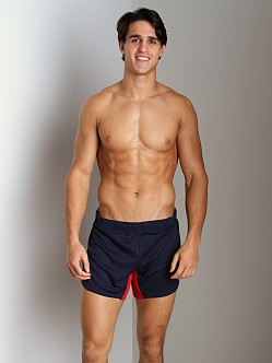 American Jock Olympian Short with Built-in Jock Navy/Red
