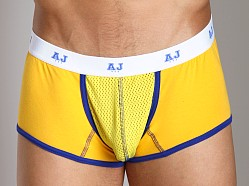 American Jock Mesh Square Cut Boxer Gold/Royal