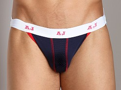 American Jock Mesh Air Jock Navy/Red