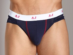 American Jock Mesh Brief Navy/Red