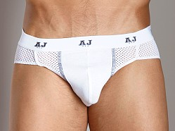 American Jock Mesh Brief White/Black
