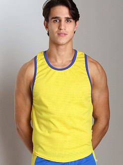 American Jock Mesh Scoop Tank Top Gold/Royal