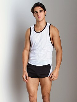 American Jock Mesh Scoop Tank Top White/Black