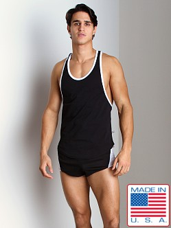 American Jock Flex T-Back Tank Top Black/White