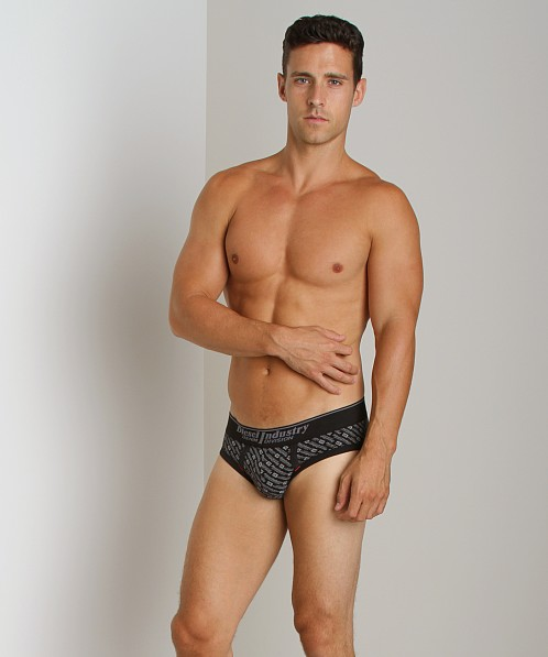 Diesel All Over Print Andre Brief Black