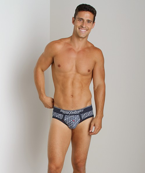 Diesel All Over Print Andre Brief Navy