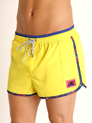 Model in yellow Diesel Reef Swim Shorts