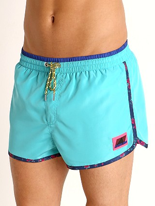 Model in aqua Diesel Reef Swim Shorts
