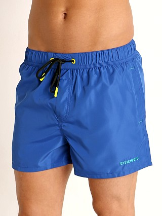 Model in web blue Diesel Sandynew Swim Shorts