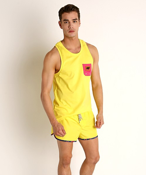 Diesel Locoarm Tank Top Yellow