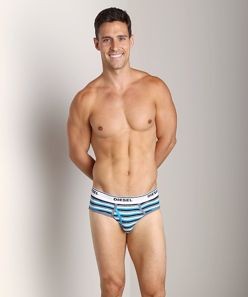 Diesel Striped Blade Brief Navy