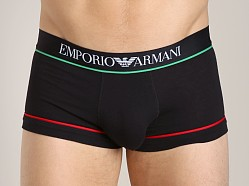 Emporio Armani Italian Flag Stretch Cotton Trunk Black