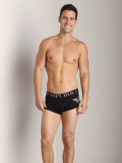 Emporio Armani Big Eagle Stretch Cotton Trunk Black