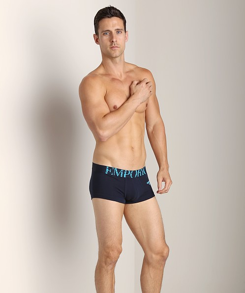 Emporio Armani Big Eagle Stretch Cotton Trunk Marine